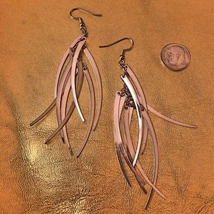 Feather Metal Earrings